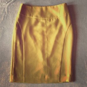 The Limited yellow pencil skirt
